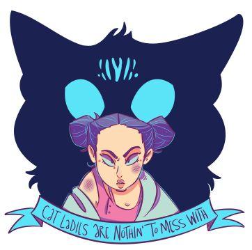 Afterglow sticker design - digital - Kickstarter Swag for Pat Shand/K Lynn Smith